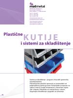 Plastične kutije i sistemi za skladištenje