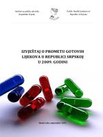 Izvještaj o prometu gotovih lijekova u Republici Srpskoj u 2009. godini