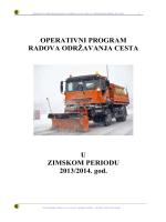 OPERATIVNI PROGRAM - Županijska uprava za ceste