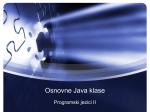 Osnovne Java klase