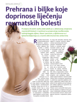 Prehrana i biljke koje doprinose liječenju reumatskih bolesti