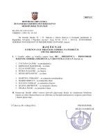 Rjesenje o imenovanju birackih odbora