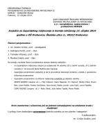 Izvješće sa županijskog natjecanja iz kemije 2014.