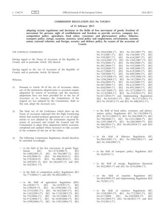 Commission Regulation (EU) No 519/2013 of 21 - EUR-Lex