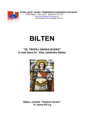 BILTEN - streljački savez primorsko goranske županije