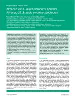 akutni koronarni sindromi Almanac 2013: acute coronary