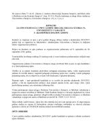Na osnovu člana 73. do 81. Zakona o visokom obrazovanju Kantona