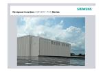 Κεντρικοί inverters SINVERT PVS Series