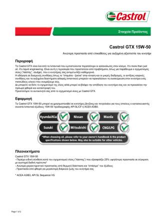 Castrol GTX 15W-50 - Castrol