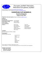 EUROPEAN CUP WOMEN B Dupnitsa (Bulgaria)