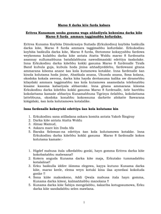 1 Marso 8 darka kiše furda kabara Eritrea Kunamam usuka gosuma