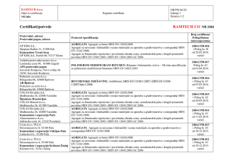 Certifikati/potvrde RAMTECH CO NB 2484