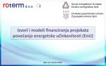 Izvori i modeli financiranja projekata povećanja energetske