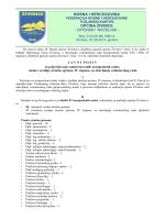 Javni poziv - Općina Živinice