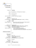 Curriculumvitae - Politehnički fakultet Univerziteta u Zenici