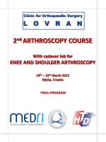 2nd ARTHROSCOPY COURSE