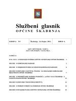 Službeni glasnik - Općina Škabrnja