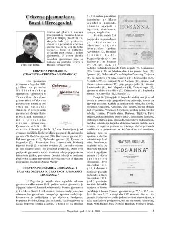 Crkvene pjesmarice u Bosni i Hercegovini