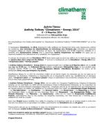 Δελτίο Τύπου Climatherm - Energy 2014