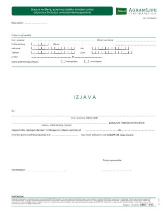 6_04 Izjava o korištenju poreznog izdatka temeljem police ZO za