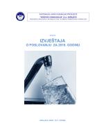 IZVJEŠTAJA - KJKP `Vodovod i kanalizacija`