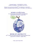 knjiga sažetaka - agroTECH 2012