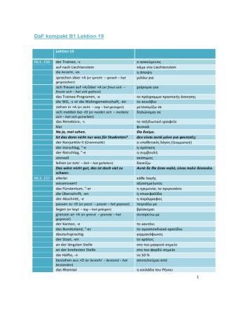 DaF kompakt B1 Griechisches Glossar zu den Lektionen 20-30