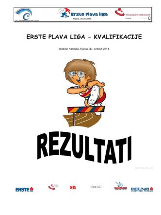 2014. – Rezultati - Erste Plava Liga