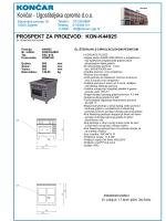 Prospekt - Termička oprema D900