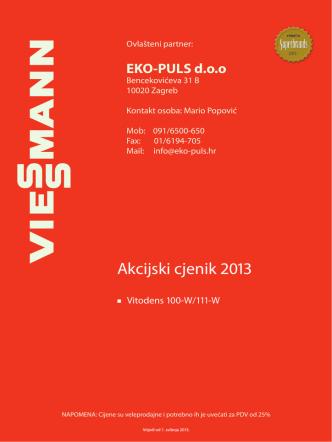 Akcijski cjenik 2013 - eko