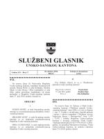 Sluzbeni glasnici 17 - Vlada Unsko