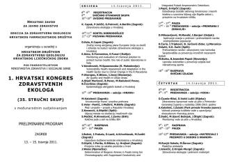 1. hrvatski kongres zdravstvene ekologije