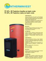 TČ 2PL, 3R Toplotna črpalka za toplo vodo TČ 2PL, 3R