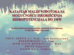 Prezentacija Katastra vodotoka - oie