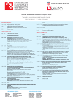 program savjetovanja (pdf) - XVII. Nacionalno savjetovanje o