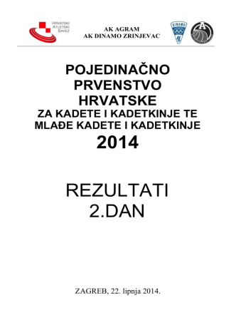 2014 REZULTATI 2.DAN