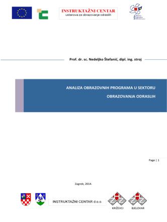 analiza obrazovnih programa u sektoru
