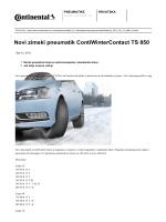 Novi zimski pneumatik ContiWinterContact TS 850
