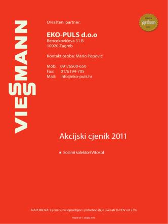 Akcijski cjenik 2011.indd - eko