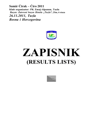 2011 - PK Zmaj Alpamm Tuzla