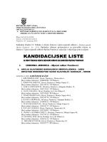 Objava kandidacijskih lista