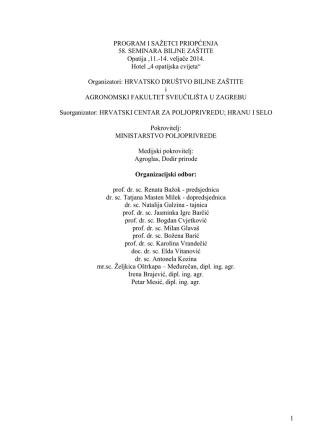 01 PROGRAN I SADRŽAJ 2014 - Hrvatsko društvo biljne zaštite