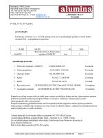 dokument - Kompanija Alumina doo Zvornik, Republika Srpska