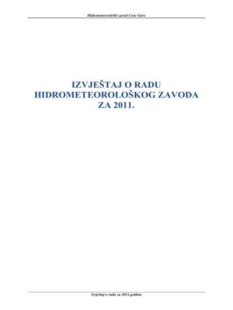 2011 - Hidrometeoroloski zavod Crne Gore