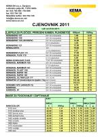 CJENOVNIK 2011