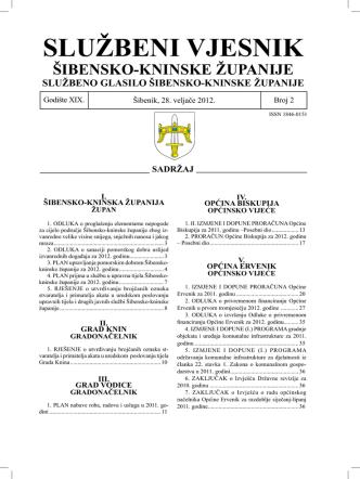 1. IZMJENE I DOPUNE PRORAČUNA Općine Ervenik za 2011. godinu