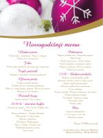 Novogodišnji menu - Bluesun Hotel Kaj
