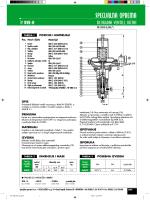 Pneumatski membranski ventil - Prirubnički TIP PMV-P