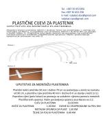 PLASTIČNE CIJEVI ZA PLASTENIK