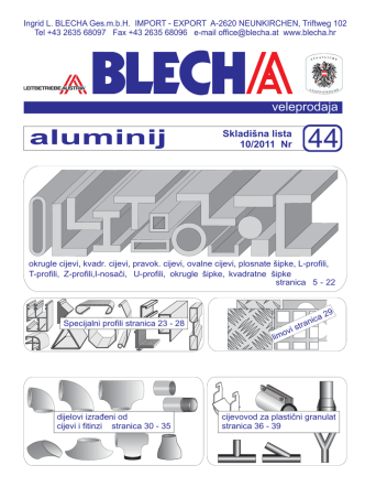 aluminij - Ingrid L. BLECHA Ges.m.b.H.